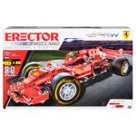 Erector by Meccano, Ferrari Grand Prix Racer STEM Building Kit with Poseable Steering, For Ages 10 and Up