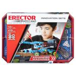 Erector by Meccano, Advanced Machines Innovation Set, S.T.E.A.M. Building Kit with Real Motor