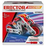 Erector by Meccano Discovery, Motorbike STEAM Model Building Kit, for Kids Aged 5 and Up