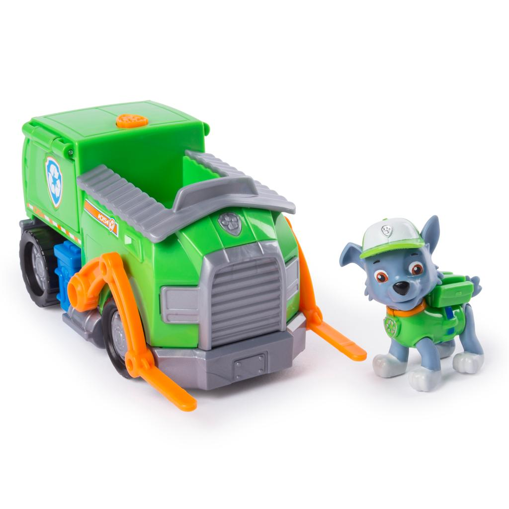 PAW Patrol, Rocky's Transforming Recycle Truck with Pop-out Tools and Moving Forklift, for Ages 3 and Up