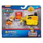 PAW Patrol Ultimate Rescue, Rubble's Mini Jackhammer Cart with Collectible Figure for Ages 3 and Up Details