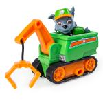PAW Patrol Ultimate Rescue, Rocky's Mini Crane Cart with Collectible Figure for Ages 3 and Up Details