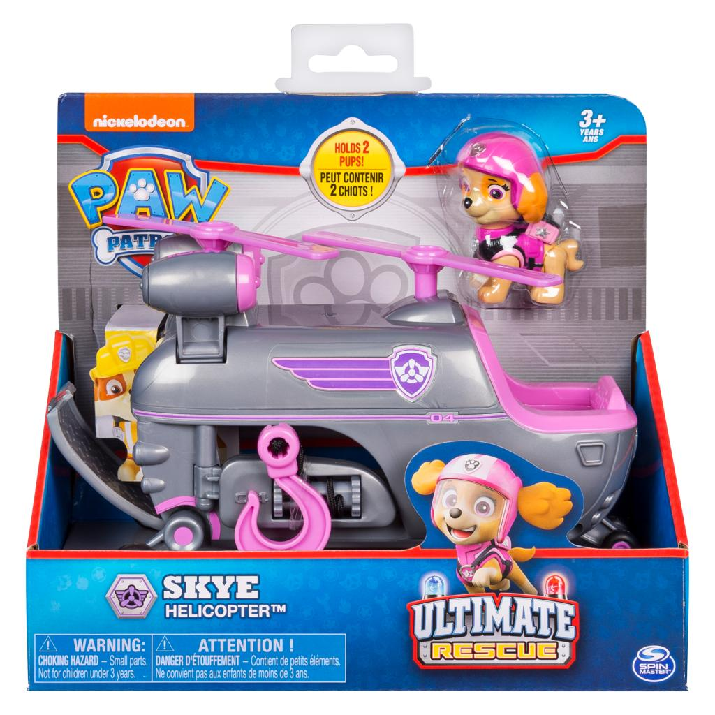 PAW Patrol Ultimate Rescue, Skye's Ultimate Rescue Helicopter with Moving Propellers and Rescue Hook, for Ages 3 and Up