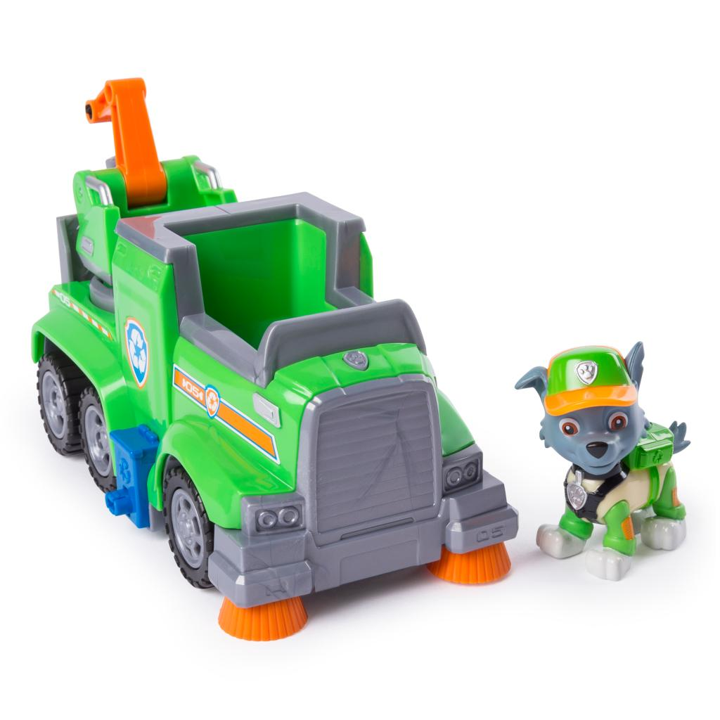 PAW Patrol Ultimate Rescue, Rocky's Ultimate Rescue Recycling Truck with Moving Crane and Flip-open Ramp, for Ages 3 and Up