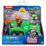 PAW Patrol Ultimate Rescue, Rocky's Ultimate Rescue Recycling Truck with Moving Crane and Flip-open Ramp, for Ages 3 and Up Details