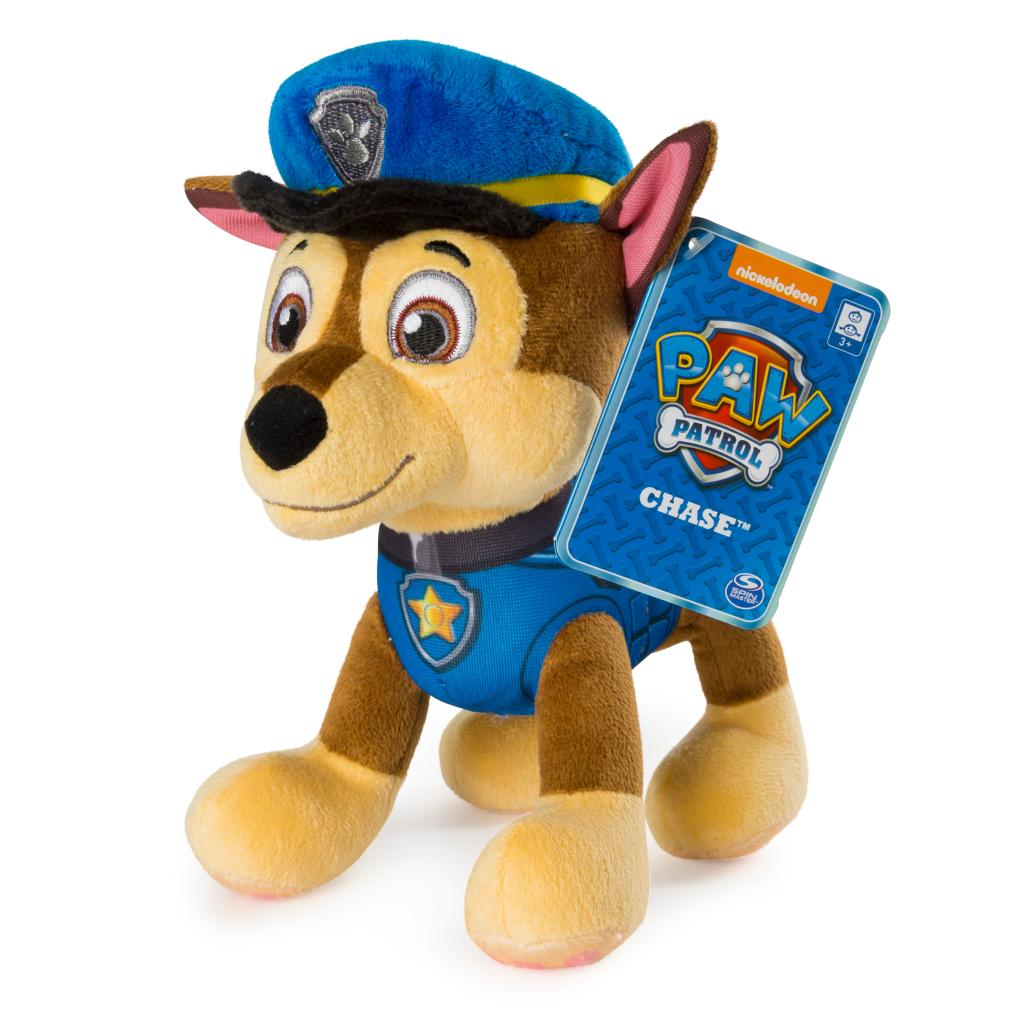 "PAW Patrol – 8"" Chase Plush Toy, Standing Plush with Stitched Detailing, for Ages 3 and up"