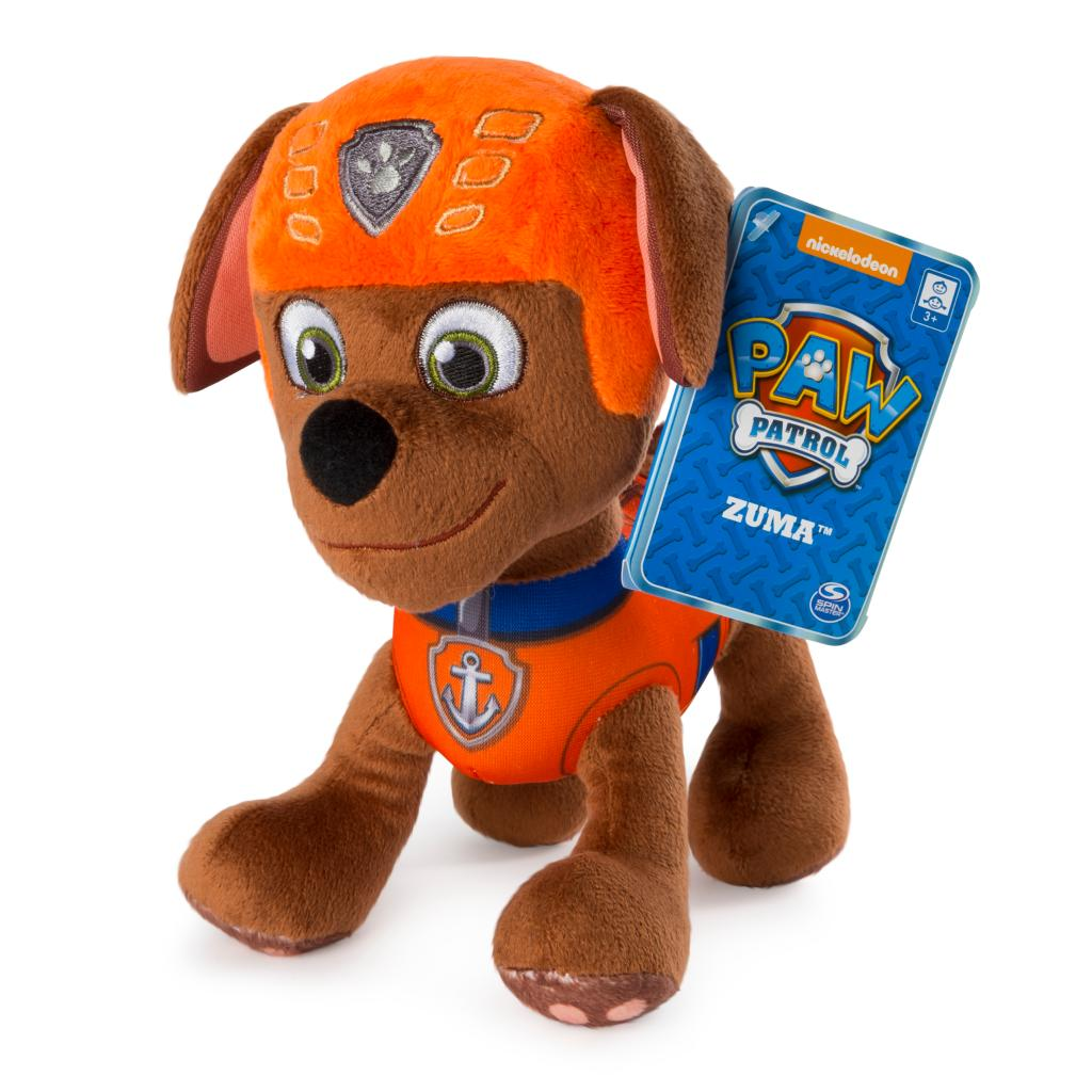 """PAW Patrol – 8"""" Zuma Plush Toy, Standing Plush with Stitched Detailing, for Ages 3 and up"""
