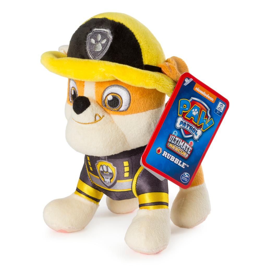 "PAW Patrol – 8"" Ultimate Rescue Rubble Plush, for Ages 3 and up"
