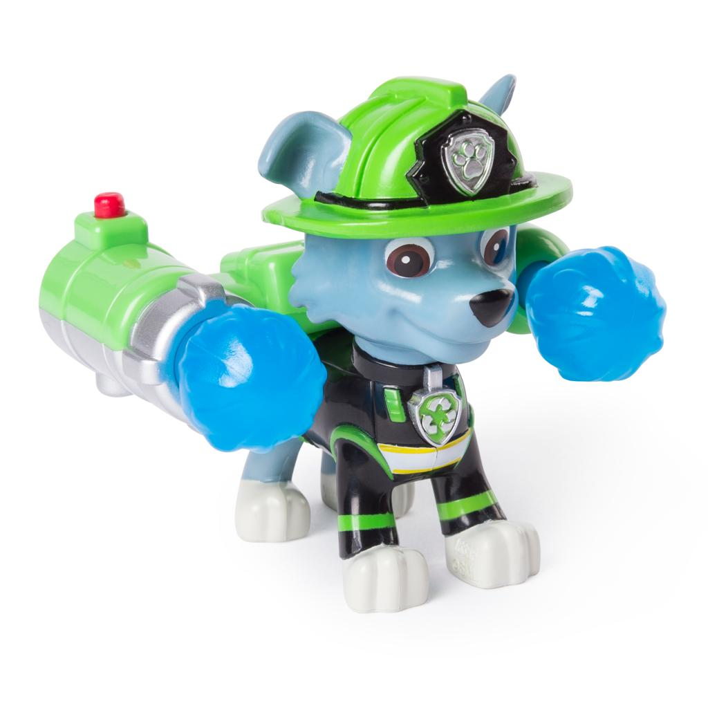 PAW Patrol - Ultimate Rescue Rocky Figure with Launching Water Cannons, for Ages 3 and Up