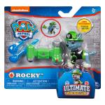 PAW Patrol - Ultimate Rescue Rocky Figure with Launching Water Cannons, for Ages 3 and Up Details