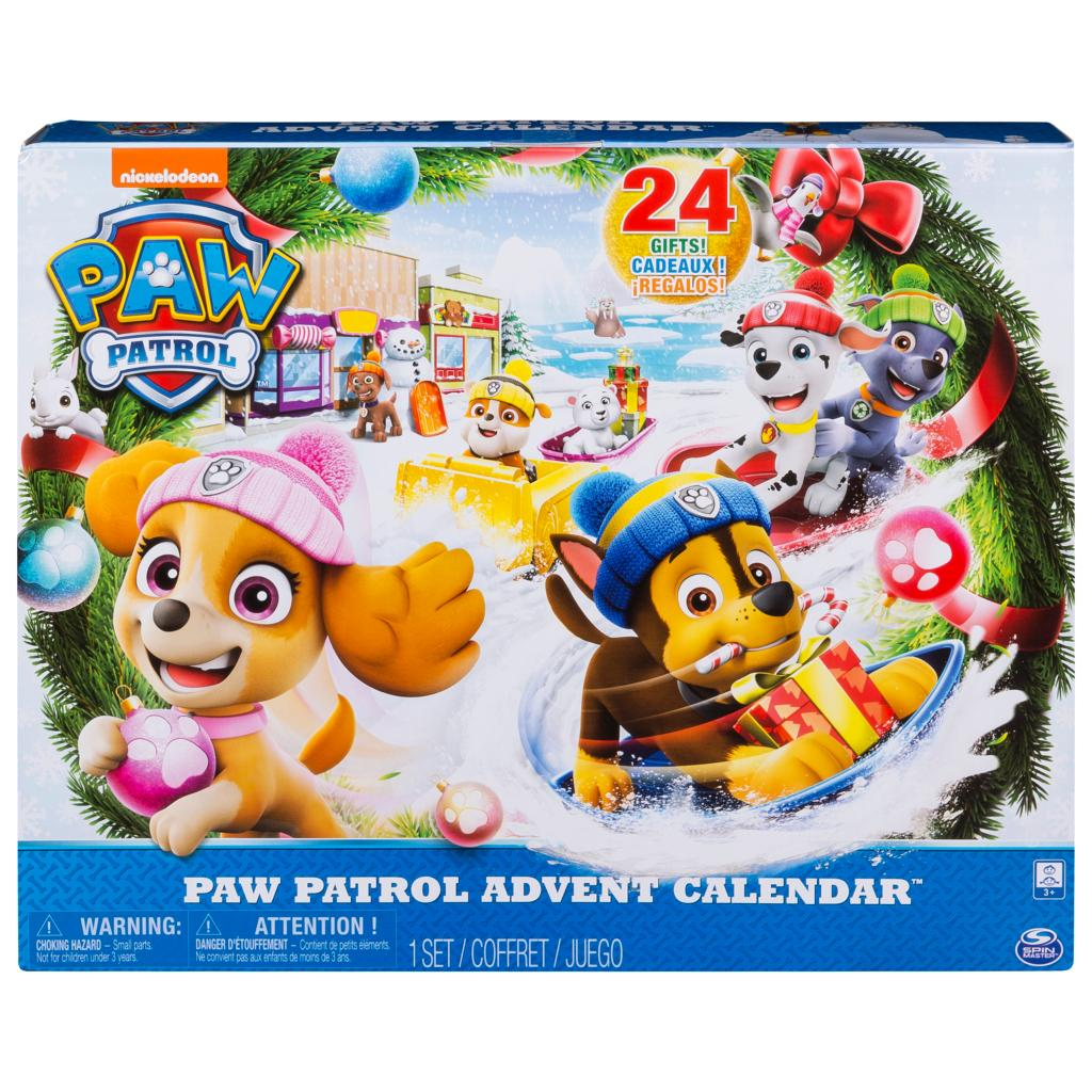 Paw Patrol – Advent Calendar with Holiday-themed Collectibles