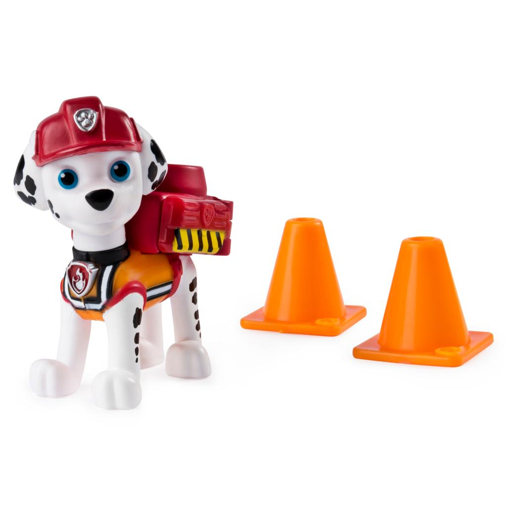 PAW Patrol, Ultimate Rescue Construction Marshall Figure with Flip Open Backpack, for Ages 3 and Up