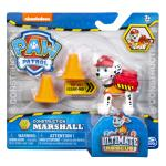 PAW Patrol, Ultimate Rescue Construction Marshall Figure with Flip Open Backpack, for Ages 3 and Up Details
