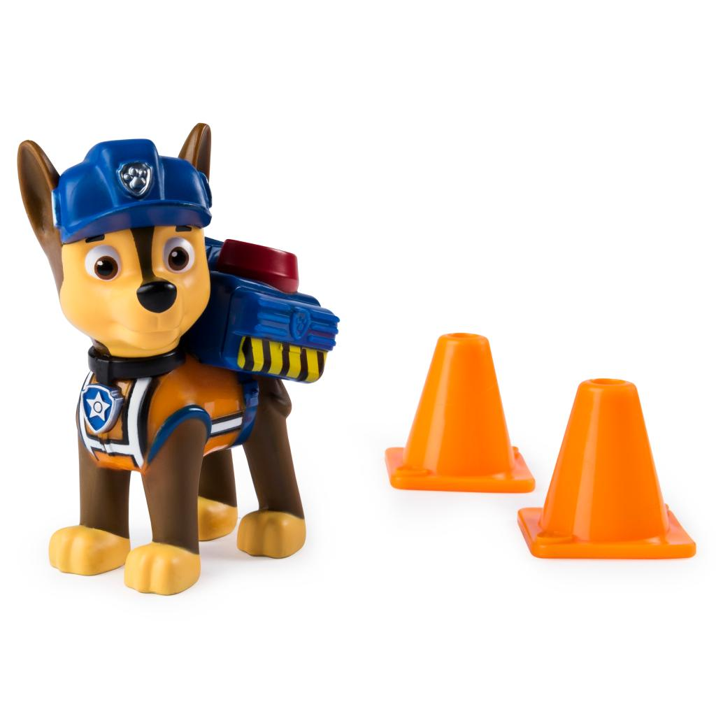 PAW Patrol, Ultimate Rescue Construction Chase Figure with Flip Open Backpack, for Ages 3 and Up
