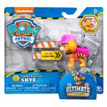 PAW Patrol, Ultimate Rescue Construction Skye Figure with Flip Up Backpack, for Ages 3 and Up Details