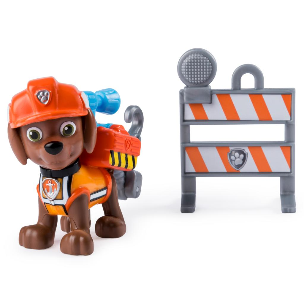 PAW Patrol, Ultimate Rescue Construction Zuma Figure with Flip Up Backpack, for Ages 3 and Up