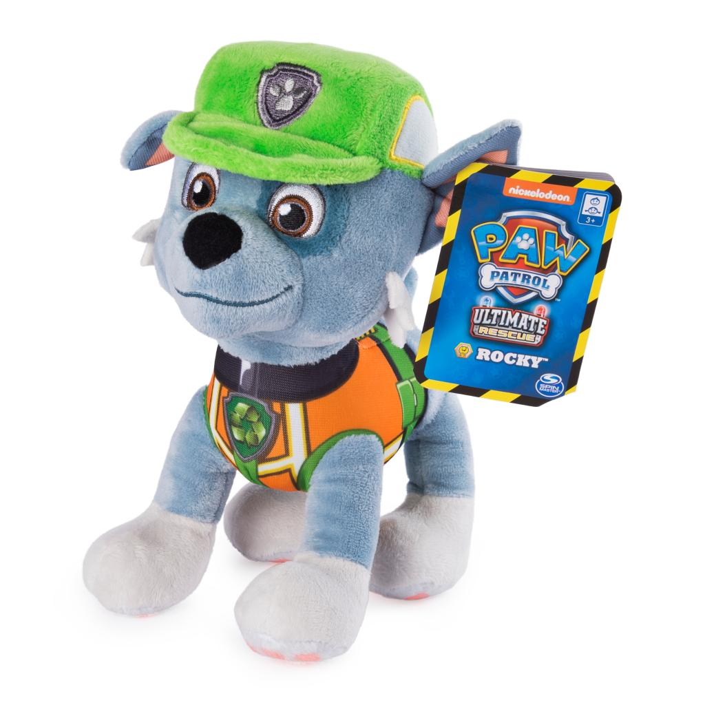 PAW Patrol, 8 Inch Ultimate Rescue Construction Rocky Plush, for Ages 3 and up