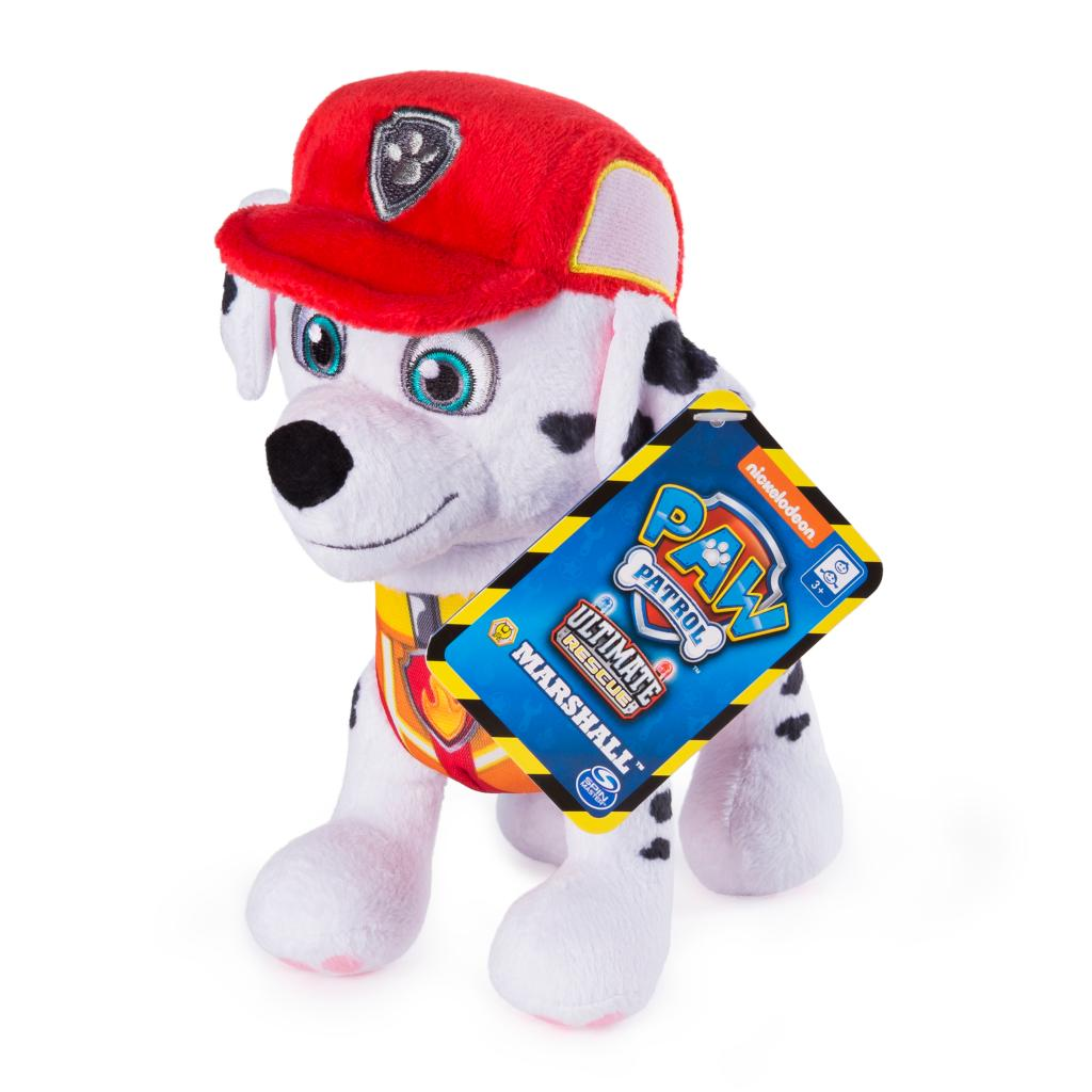 PAW Patrol, 8 Inch Ultimate Rescue Construction Marshall Plush, for Ages 3 and up