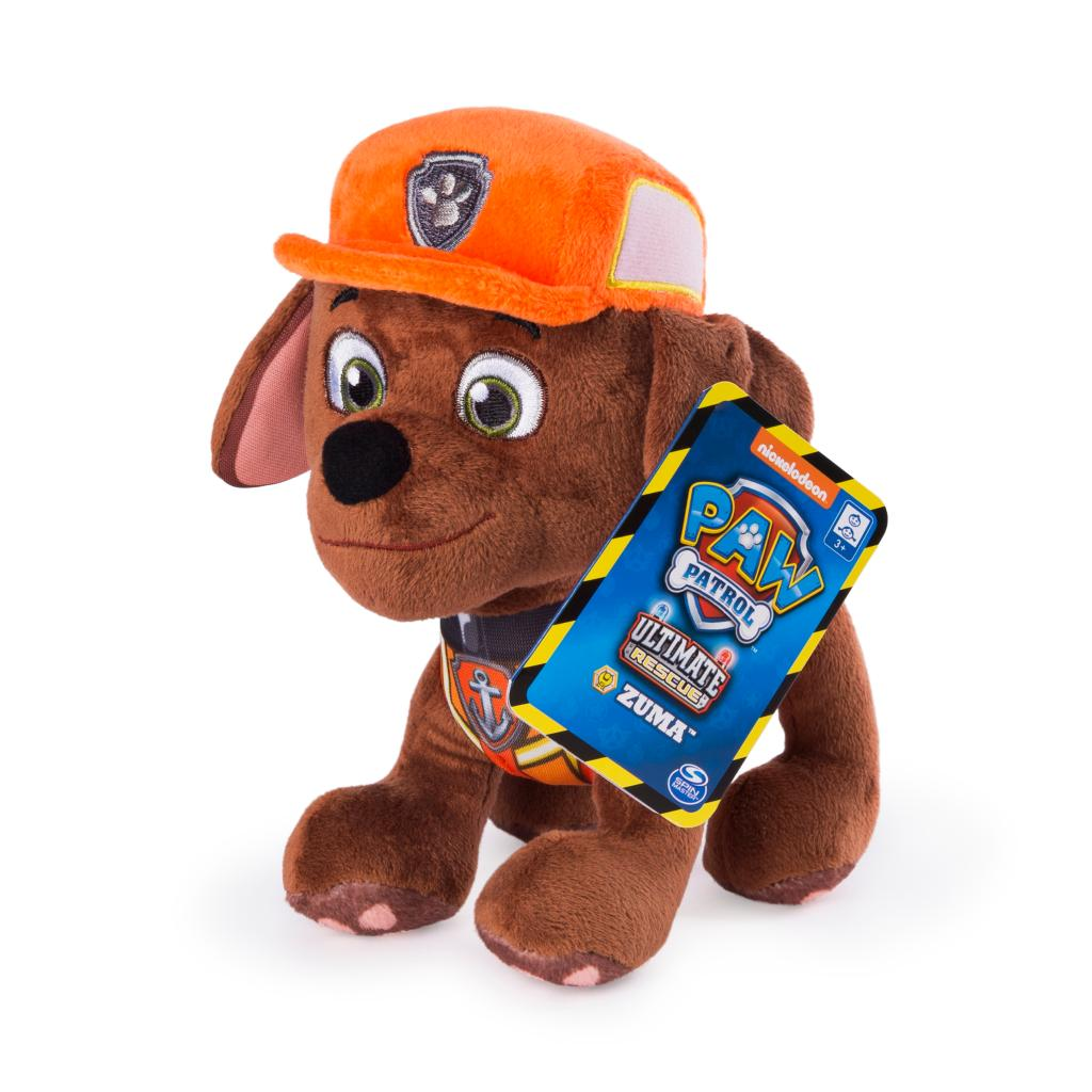 PAW Patrol, 8 Inch Ultimate Rescue Construction Zuma Plush, for Ages 3 and up