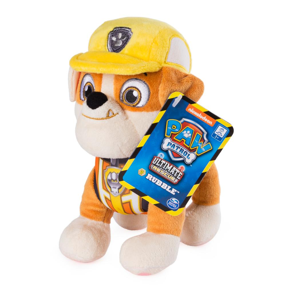 PAW Patrol, 8 Inch Ultimate Rescue Construction Rubble Plush, for Ages 3 and up