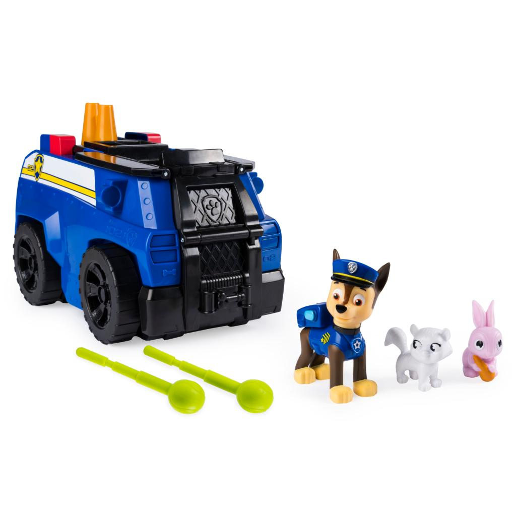PAW Patrol, Chase's Ride 'n' Rescue, Transforming 2-in-1 Playset and Police Cruiser, for Kids Aged 3 and Up