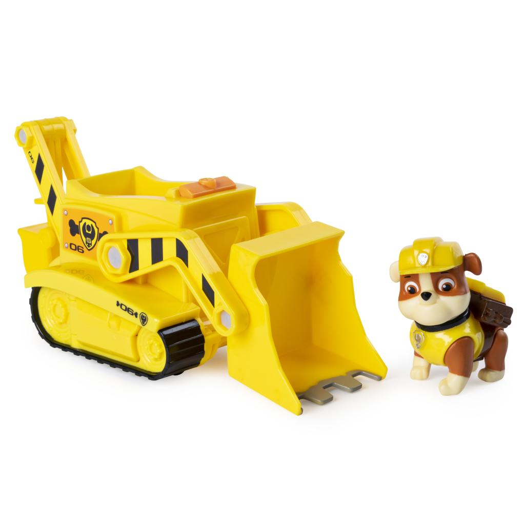PAW Patrol, Rubble's Transforming Bulldozer with Pop-out Tools, for Ages 3 and Up