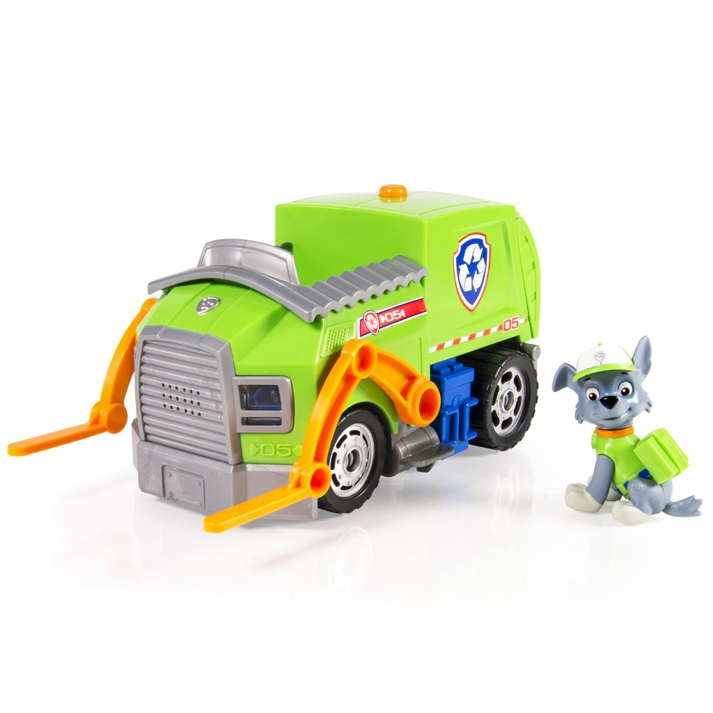 Paw Patrol Rocky's Lights and Sounds Recycling Truck Vehicle and Figure