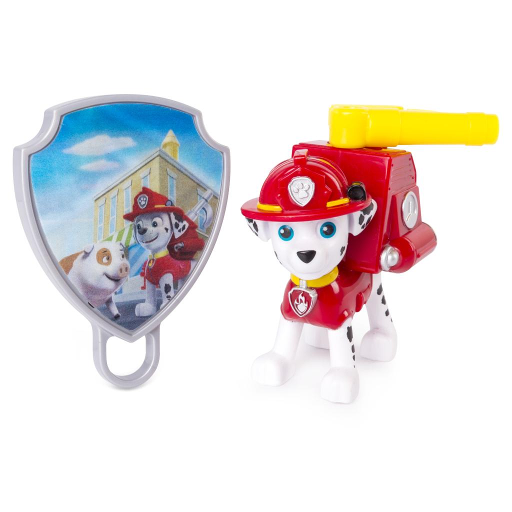 PAW Patrol - Action Pack Marshall with Extendable Hook and Collectible Pup Badge