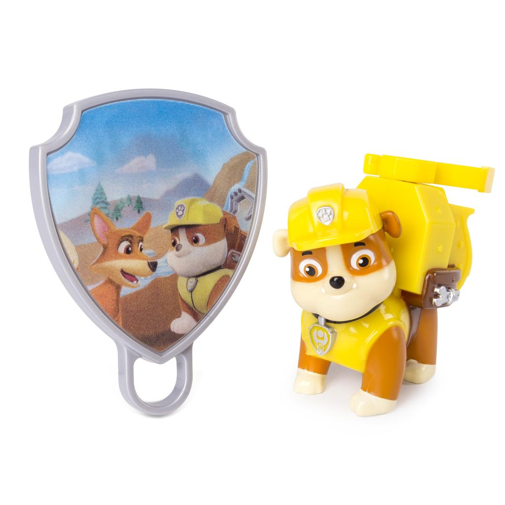 PAW Patrol - Action Pack Rubble with Extendable Hook and Collectible Pup Badge