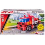 Meccano Junior Rescue Fire Truck with Lights and Sounds Model Building Kit