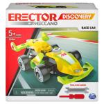 Erector by Meccano Discovery, Race Car STEAM Model Building Kit, for Kids Aged 5 and Up