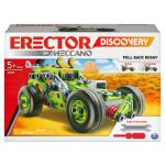 Erector by Meccano Discovery, 3-in-1 Deluxe Pull-Back Buggy STEAM Model Building Kit, for Kids Aged 5 and Up
